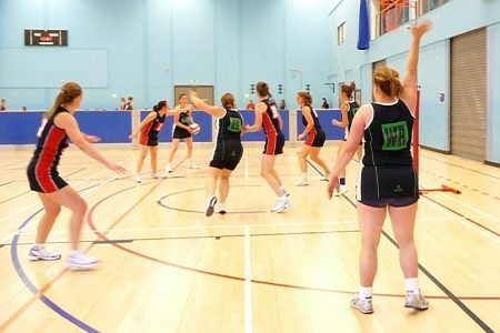 Bradley Stoke Netball Club's First Team in action against Chipping Sodbury.