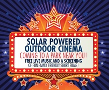 Solar powered outdoor cinema - coming to a park near you!