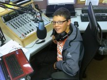 Connor Summers, presenter of the Sports Show on Bradley Stoke Radio (BSR).