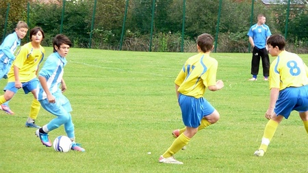 Harry Brock on the ball for Bradley Stoke Youth FC U14s.