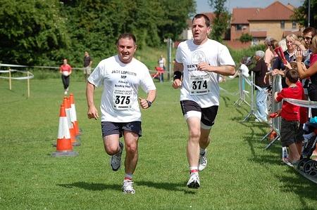 Jack Lopresti MP and Cllr Ben Walker complete the 2010 Bradley Stoke 10k.