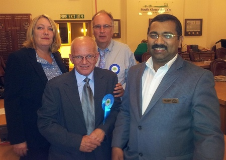 Victorious Conservative candidate Paul Hardwick.