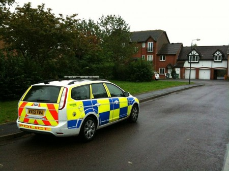 Foxcroft Close in Bradley Stoke, scene of fighting between groups of youths.