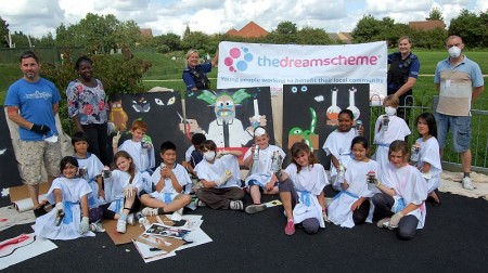 Bradley Stoke Dreamscheme 'graffiti art' project (summer 2012).