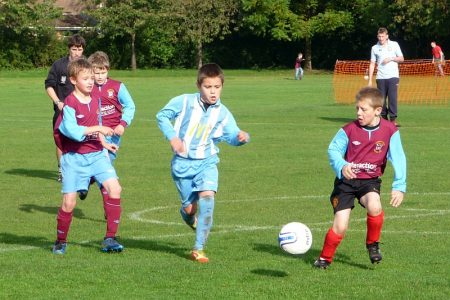 Bradley Stoke Youth FC's U10 Colts in action against Mangotsfield.