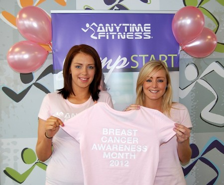 Launch of Breast Cancer Awareness Month at Anytime Fitness, Bradley Stoke.