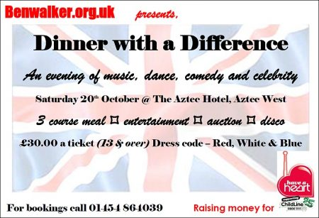 'Dinner with a Difference' - charity event in aid of 'Have a Heart'.