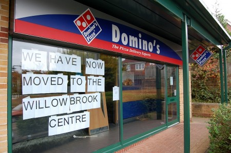 The Domino's Pizza store in Stoke Gifford has closed.