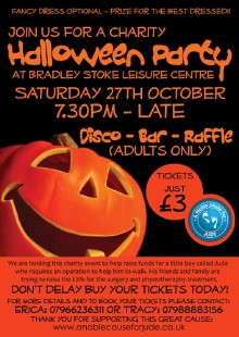 Charity Halloween Party at Bradley Stoke Lesiure Centre.