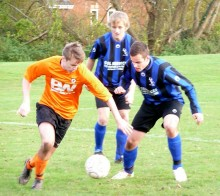 Adam Hay (BSTFC) in action against Downend Foresters.