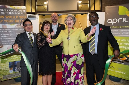 Official opening of the APRIL UK headquarters in Bradley Stoke, Bristol.