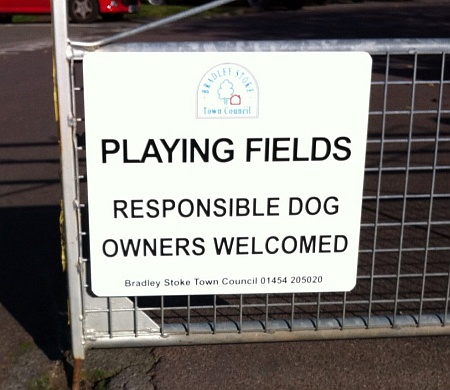 Playing fields. Responsible dog owners welcome.