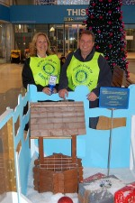 Members of Bristol Aztec Rotary Club with their wishing well.