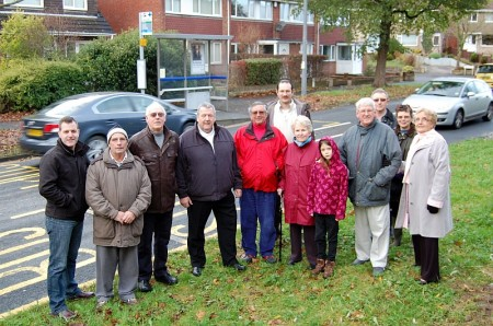 Residents campaigning for a pedestrian crossing facility on Brook Way.