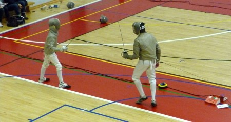 National fencing event held at WISE Campus, Stoke Gifford, Bristol.