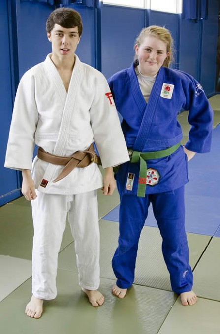 Rachael Bennett and Reece Peacock of Patchway Judo Club.