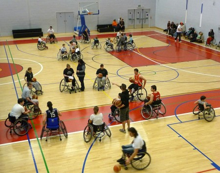 South West Scorpions wheelchair basketball club in action at the WISE Campus.