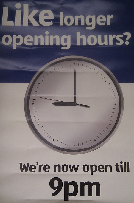 The Aldi store in Bradley Stoke is now open until 9pm.