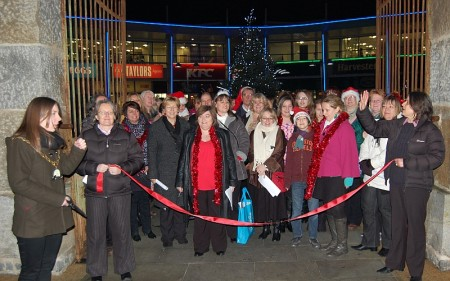 Inauguration of the Bradley Stoke Community Singers by the Mayor.