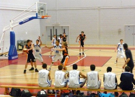 Bristol Academy Flyers U16s in action against Torbay Tigers.