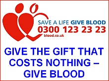 Give the gift that costs nothing: give blood.