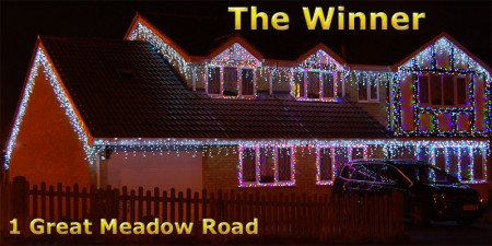 The best Christmas lights display in Bradley Stoke for 2012.