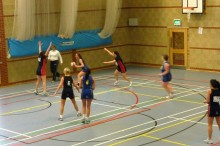 Bradey Stoke Netball Club 2nds in action against Team Bath 2nds.