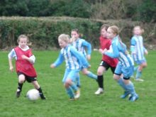 Bradley Stoke Youth FC Under-10 Girls against Longwell Green.