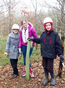 BSCS Year 9 students volunteering with the Forest of Avon Trust.