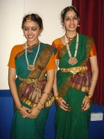 Mridula and Nivedita performed a  Bharatnatyam dance.