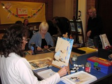 Stokes Art Group - workshop session.