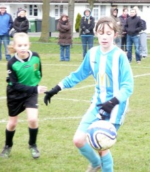 Emily Holbrooke on the ball for BSYFC.