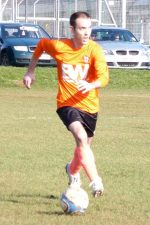 Andy Hurrell on the ball for the BSTFC First Team.