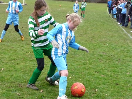 BSYFC's Kayleigh Jennings in action against Westbury Foxes.