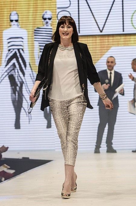 Makeover model Ceri Wakefield at the Bristol Fashion Show.