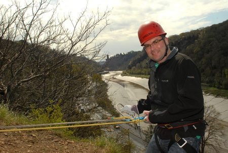 Charity abseiling in the Avon Gorge. Photo courtesy of Pure Light Photography.