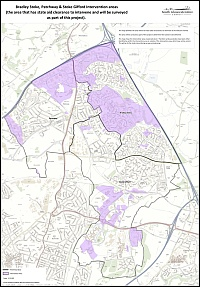 South Gloucestershire Council broadband intervention areas in North Bristol.