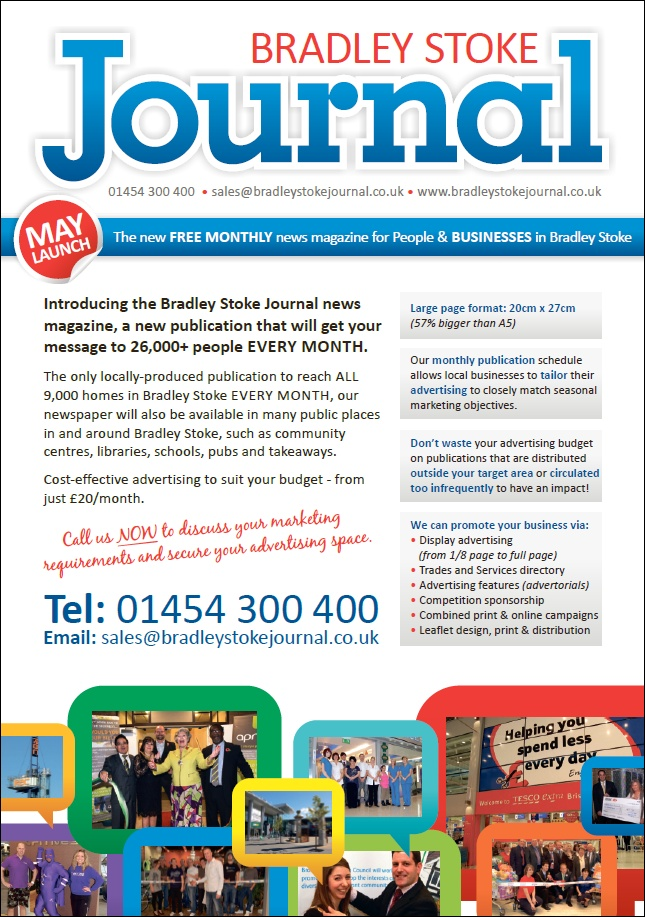 The Bradley Stoke Journal monthly newspaper - supporting local businesses.