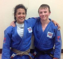 Lele Nairne and Pete Miles of Bradley Stoke Judo Club.