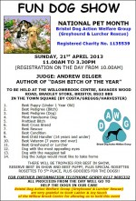 Poster for the Bradley Stoke Fun Dog Show.