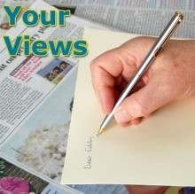 Letter to the editor: Your views.