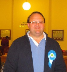 Andy Ward (Conservative) by-election winner in Bradley Stoke.
