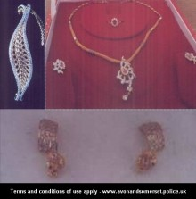 Jewellery stolen from a property in Bowsland Way, Bradley Stoke.