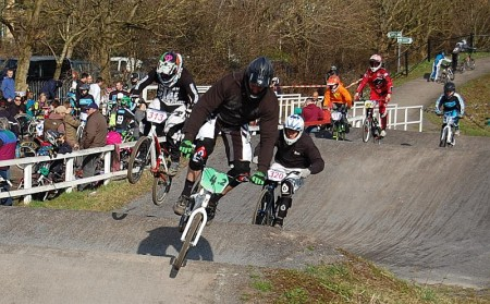 Training event at the Bristol BMX Club track in Waterside Drive, Patchway.