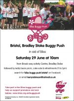 Bristol (Bradley Stoke) Buggy Push for Bliss.