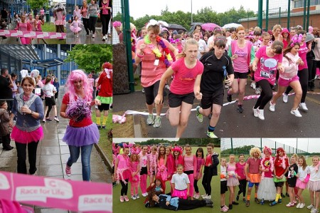 Race for Life at Bradley Stoke Community School, Bristol.