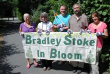 Bradley Stoke in Bloom (BSiB) volunteers prepare for their first workday.