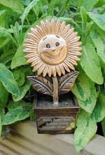 Trophy for the Bradley Stoke in Bloom Sunflower Growing Competition 2013.