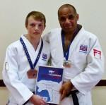 Peter Miles and Pete Douglas of Bradley Stoke Judo Club.