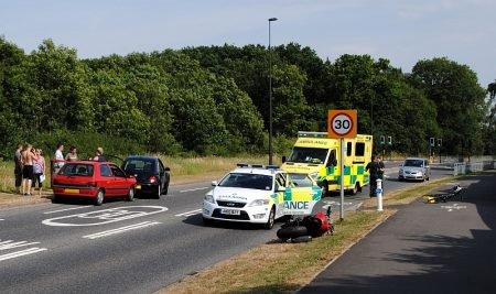Road traffic accident on Bradley Stoke Way.
